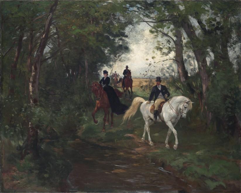 """Spazierritt am Waldrand"" by Rudolf Koller"