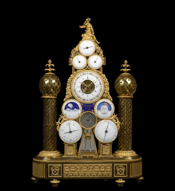A Republican multi-dial automata clock conceived and made by François -Joseph Hartmann