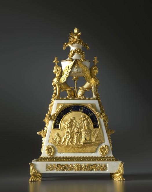 A late Louis XVI mantel clock