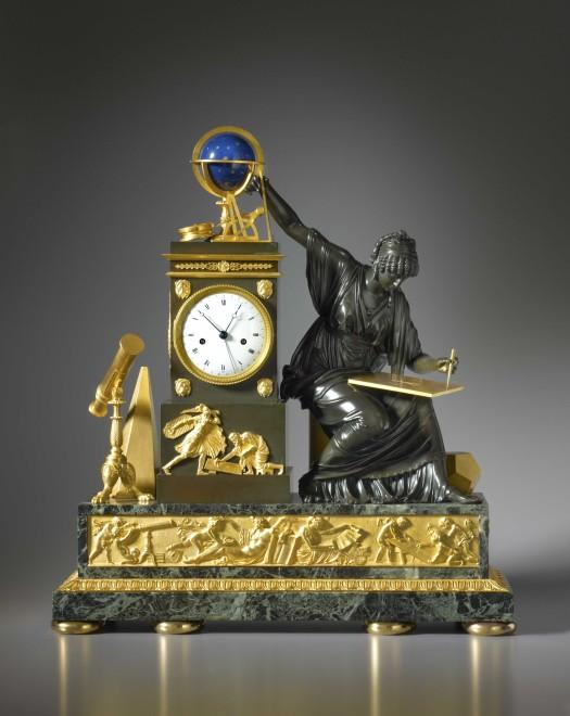 A Louis XVI mantel clock