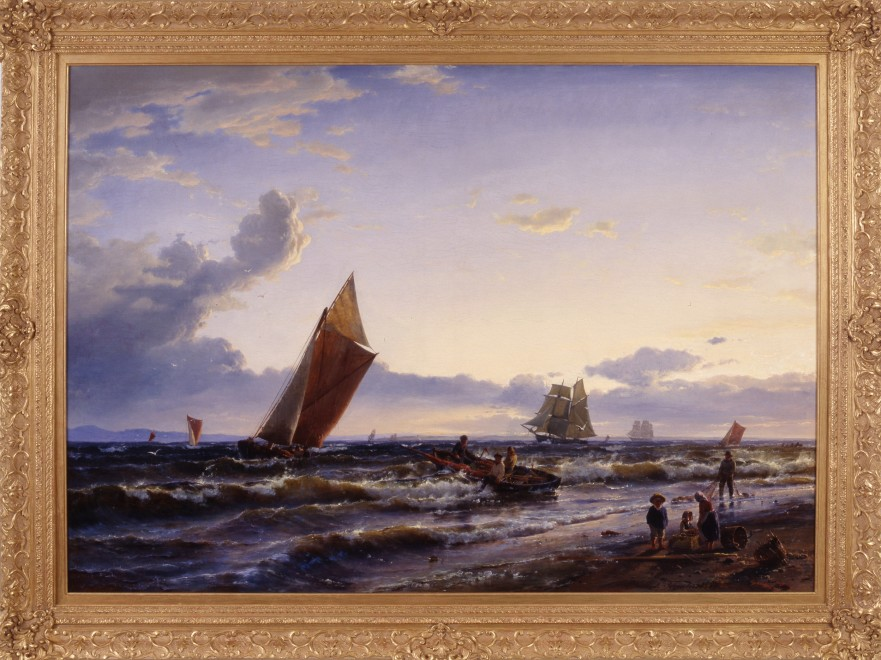 """Beach at Hornbaek, Early Morning"" by Carl Frederick Sorensen"
