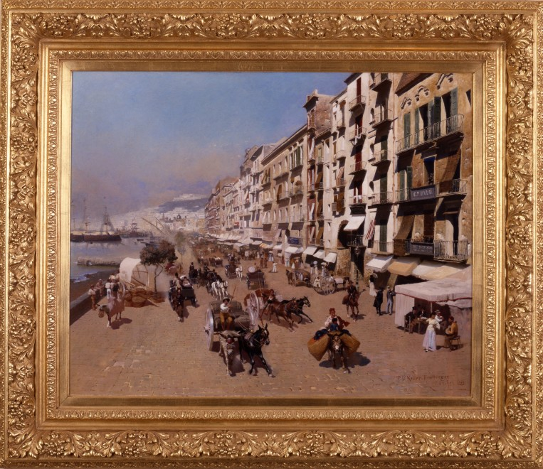"""On The Waterfront, Naples"" by Paul Wilhelm Keller-Reutlingen"