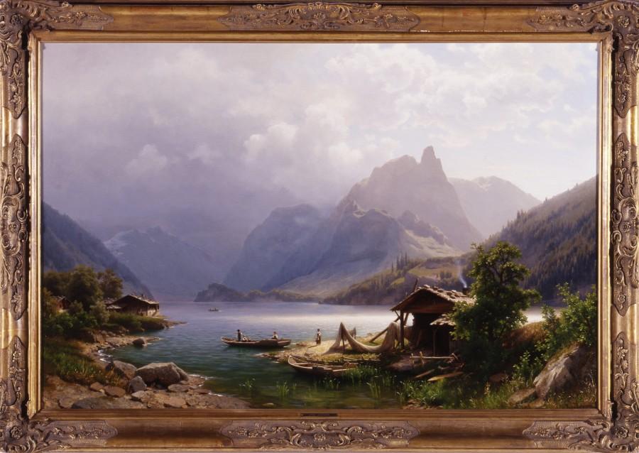 """""""Swiss Alpine Scene"""" by Joseph Jansen"""