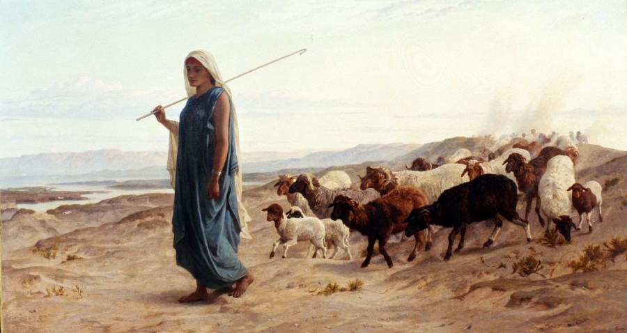 """Rachel and her Flock"" by Frederick Goodall"