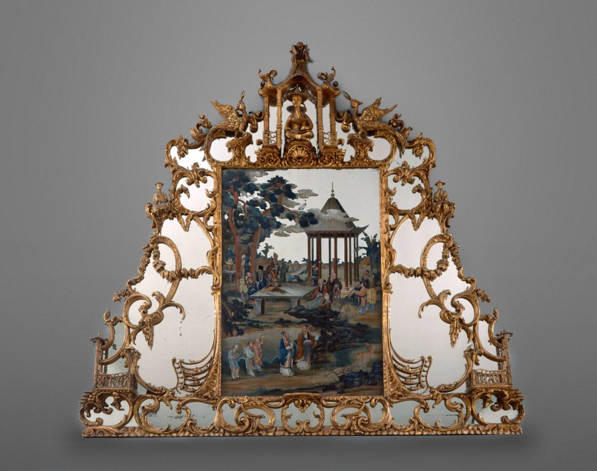 A 18th Century Chinese Chippendale style mirror