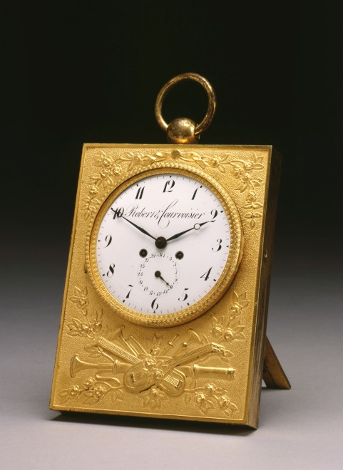 An Empire coach or saddle watch, by Robert & Courvoisier