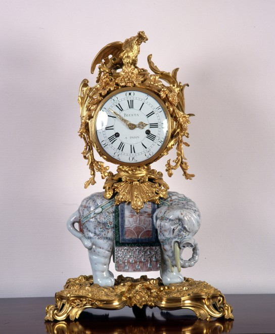 A Louis XV elephant clock by Jean Biesta, case attributed to Jean-Joseph de Saint-Germain