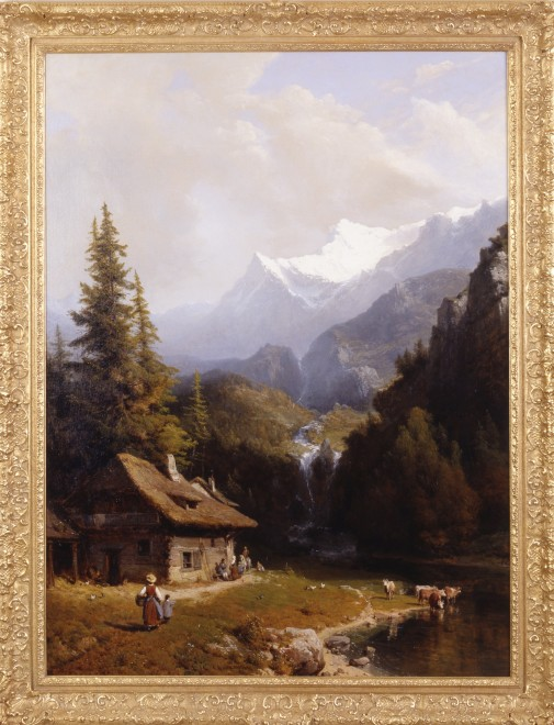 """An Alpine Pass"" by Karl Josef Kuwasseg"
