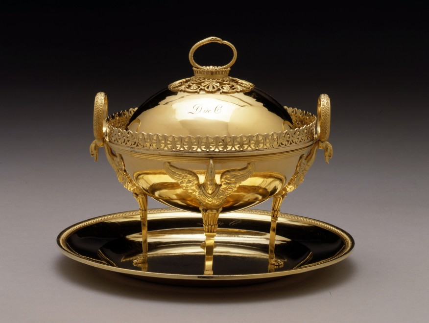 An Empire tureen with cover and dish by Marie-Joseph-Gabriel Genu