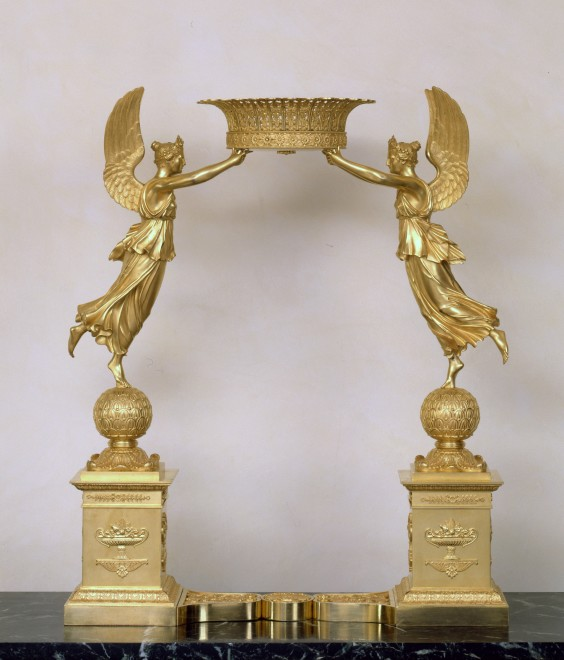 An Empire figural centrepiece attributed to Pierre-Philippe Thomire