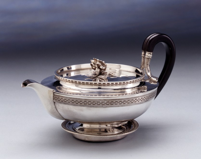 A Regency teapot on stand by Benjamin Smith