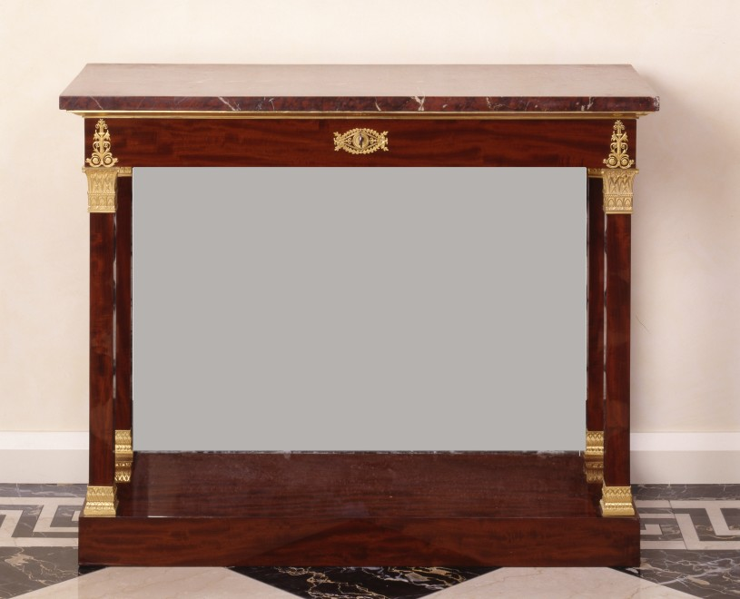 An Empire console table attributed to Jacob-Desmalter et Cie.