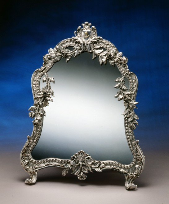 A French mirror in the Rococo manner by Jean-Baptiste-Gustave Odiot