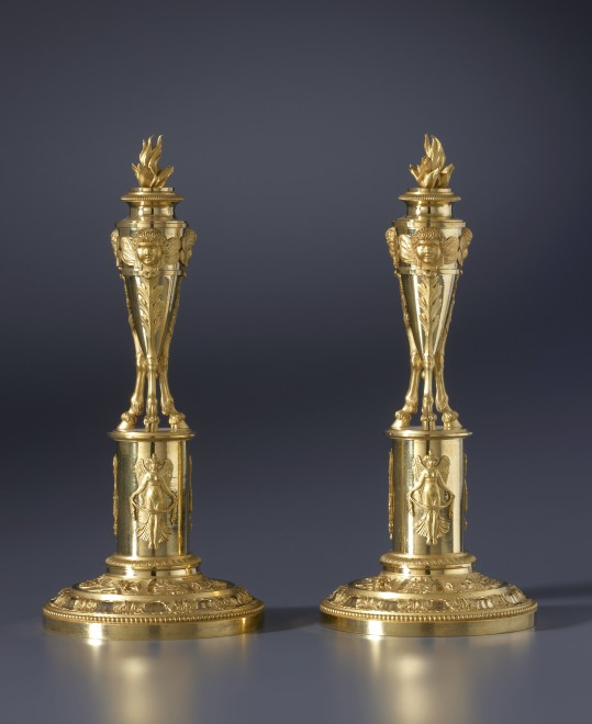 A pair of Directoire candlesticks attributed to Claude Galle