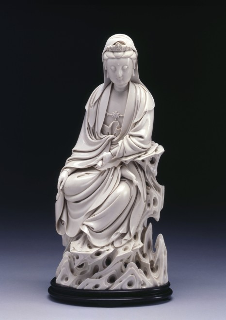 Aseventeenth century Dehua Blanc de Chine figure of Guanyin