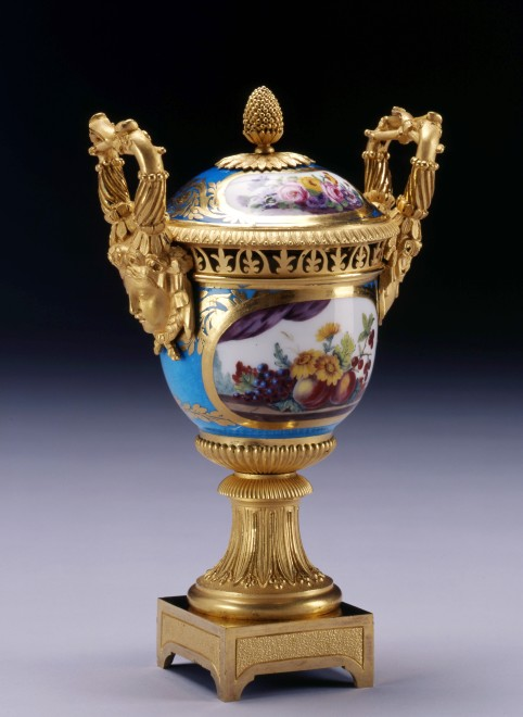 A Louis XVI Sèvres vase and cover gilded by Étienne-Henri Le Guay