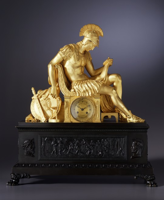 A Restauration mantel clock by Louis-Stanislas Lenoir-Ravrio