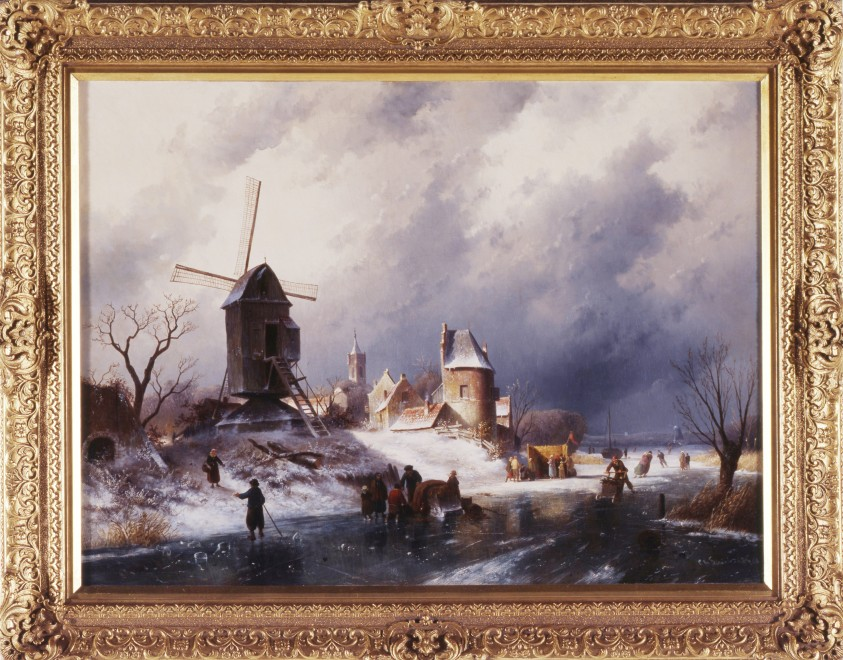 """A Winter Landscape"" by Charles Henri Joseph Leickert"