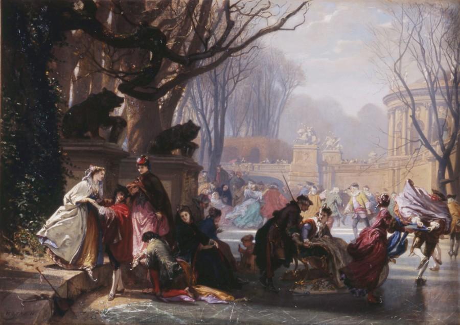 """Les Patineurs"" by Henri-Charles-Antoine Baron"