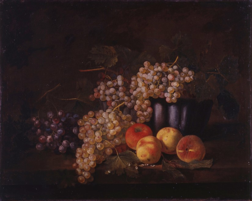 A pair of German 18th Century still-lifes with fruit attributed to Samuel Jakob Beck
