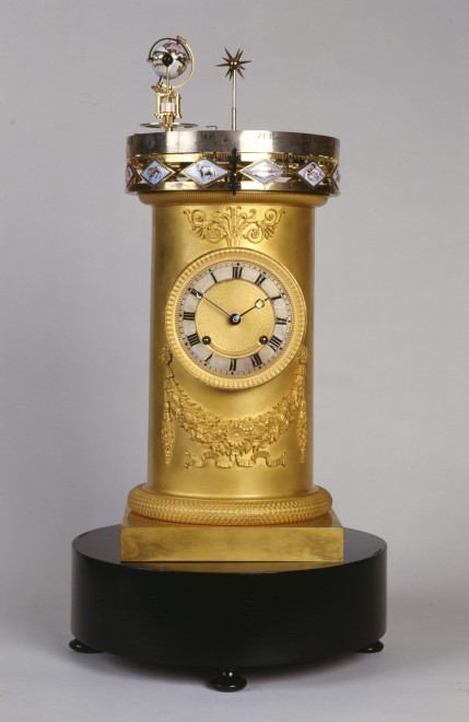 An early 19th Century Swiss planetarium clock, by François Ducommun