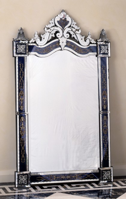 A 19th century Murano Venetian wall mirror of rectangular form