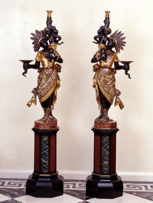 A pair of North Italian Blackamoors