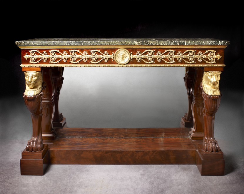 An Empire console attributed to Jacob-Desmalter et Cie