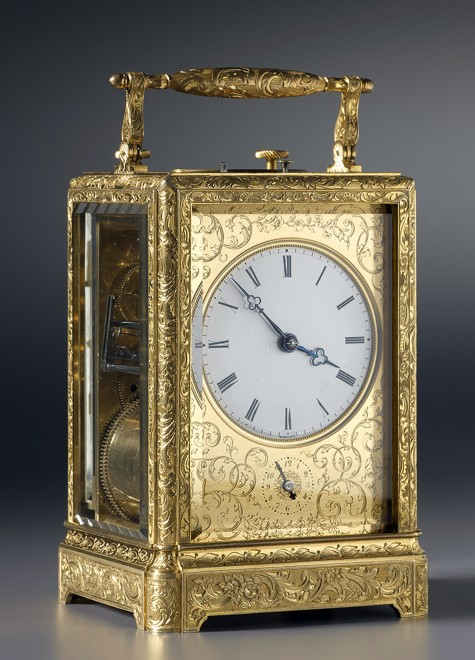 A Louis-Philippe grande and petite sonnerie striking carriage clock, by Breguet Neveu Compagnie