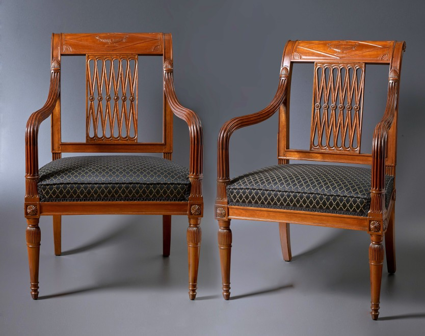 Georges Jacob, A set of four late 18th Century fauteuils