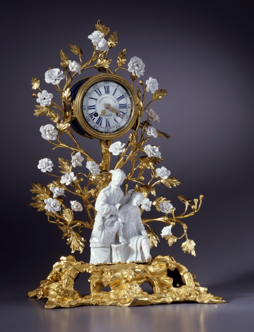 A Louis XV mantel clock of eight day duration by Gudin Le Jeune