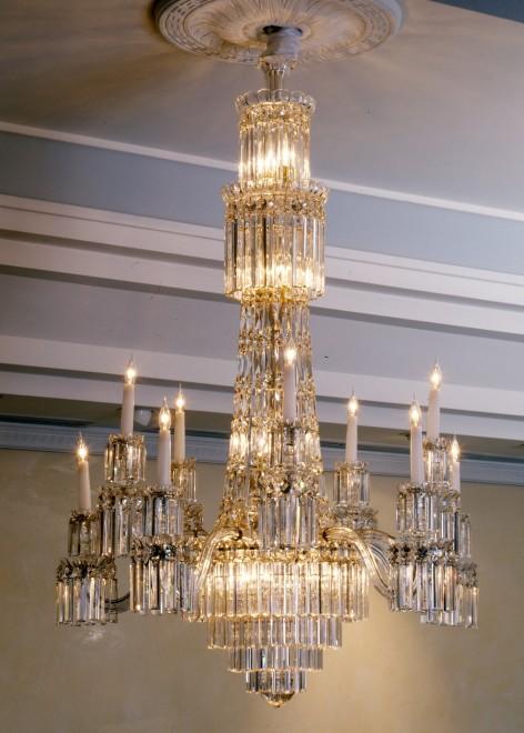 A Regency twelve-light chandelier
