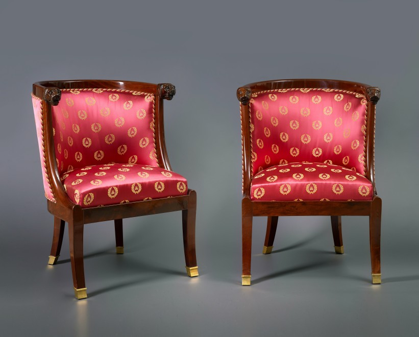 A set of four Empire fauteuils