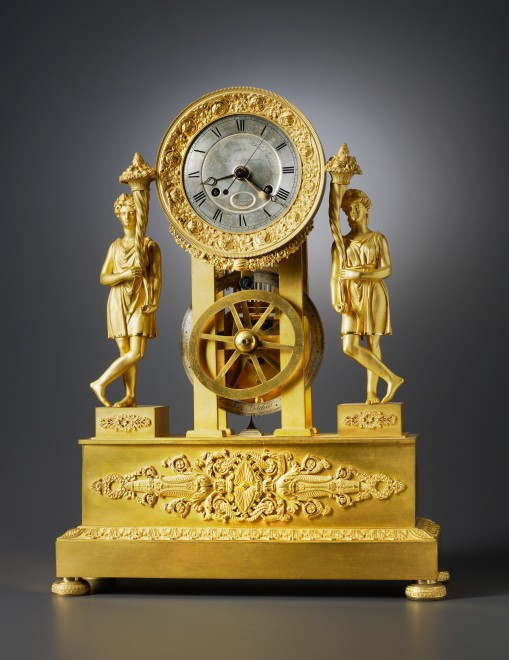 A Restauration mantel clock with equation of eight day duration by Blondeau