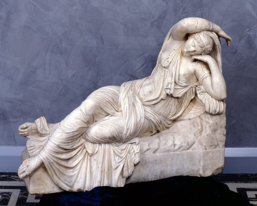 A statue of Cleopatra after the antique version in the Vatican Rome, by A. Canova