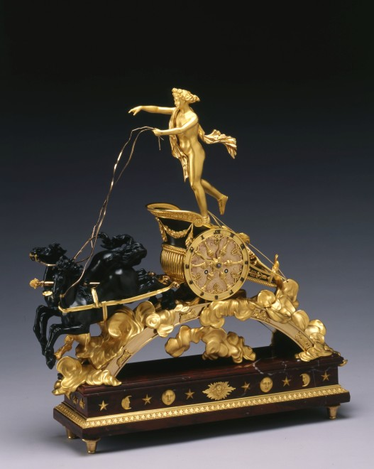 An Empire chariot clock, attributed to Pierre-Philippe Thomire