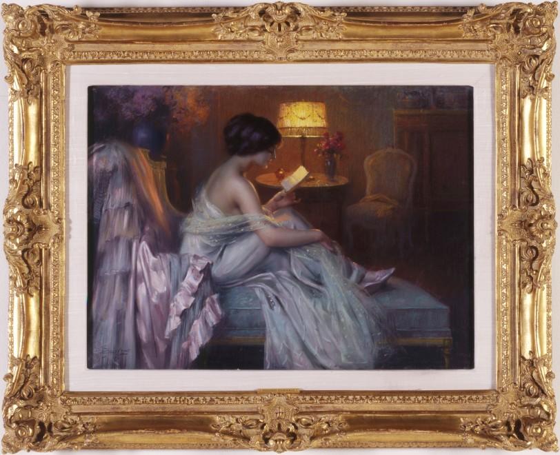"""""""La Lecture au Clair de la Lampe"""" by Delphin Enjolras"""