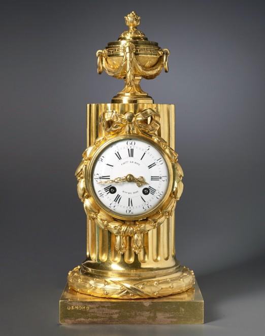 A Louis XVI column clock by Charles Le Roy, bronze case by Jean-Baptiste Osmond