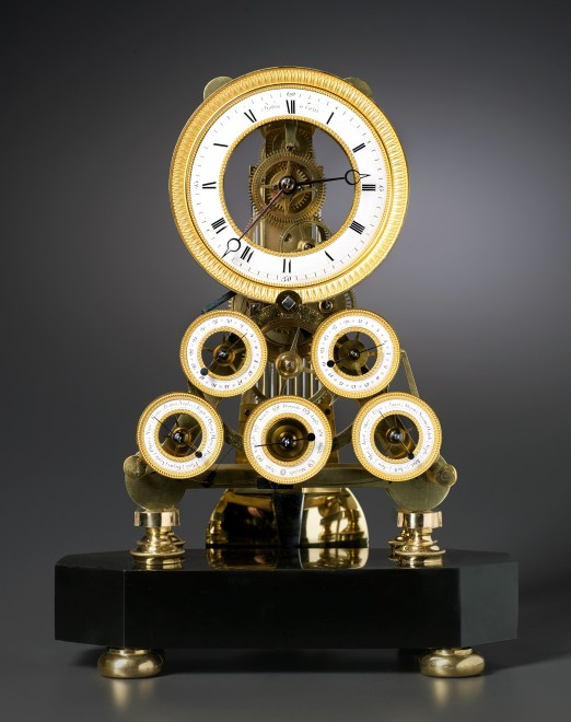 A Directoire multi-dial skeleton table regulator of eight day duration by Robert Robin