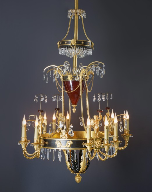 A Russian Empire twelve-light chandelier, Saint Petersburg, date circa 1800-10