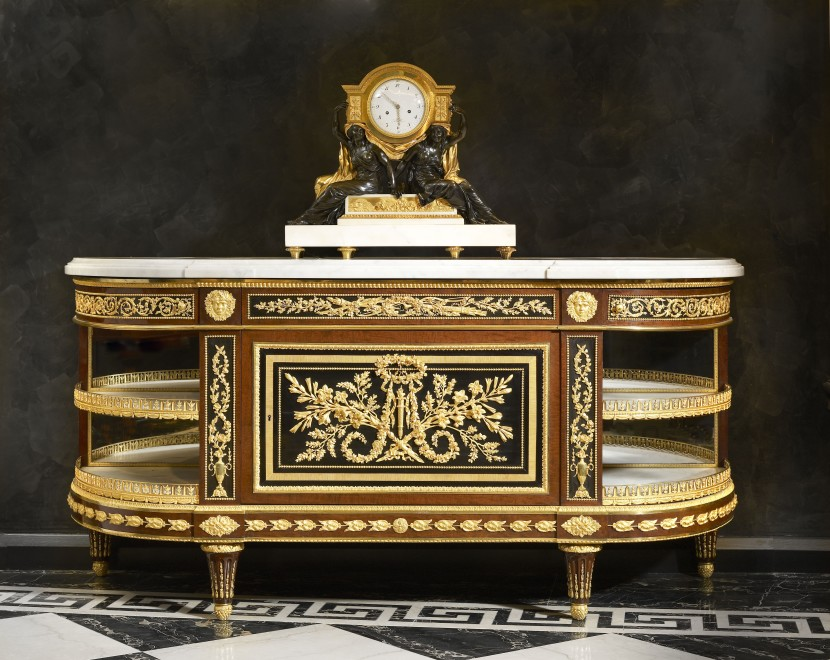A Victorian credenza or side cabinet, attributed to Holland and Sons