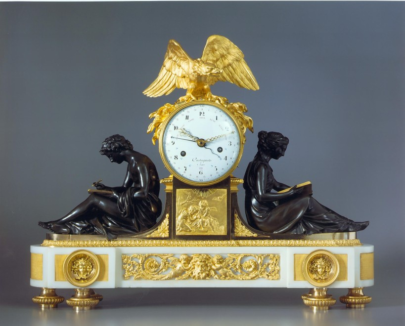 A Louis XVI figural clock of eight day duration by Jacques-Joseph Castagnet