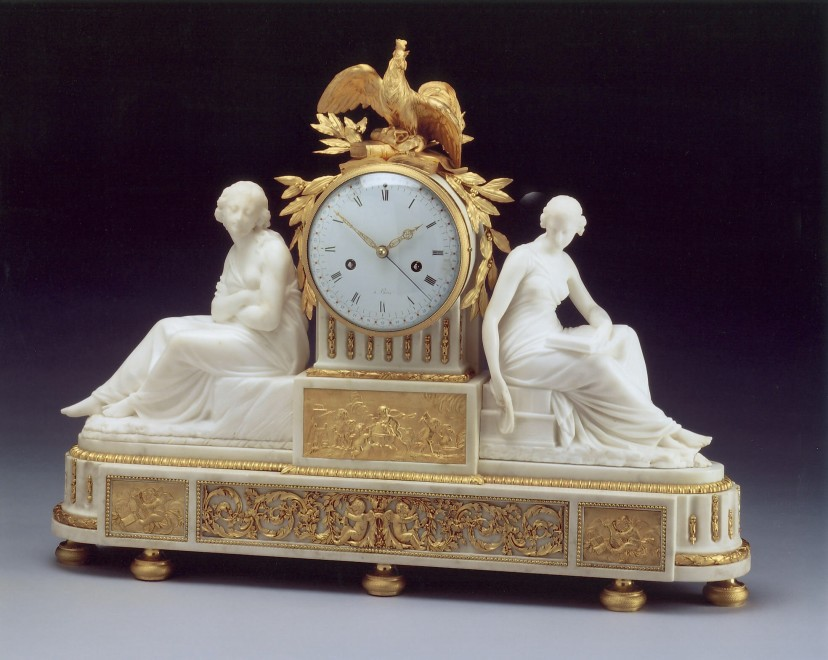 A Directoire figural clock of eight day duration attributed to Jean-Simon Bourdier