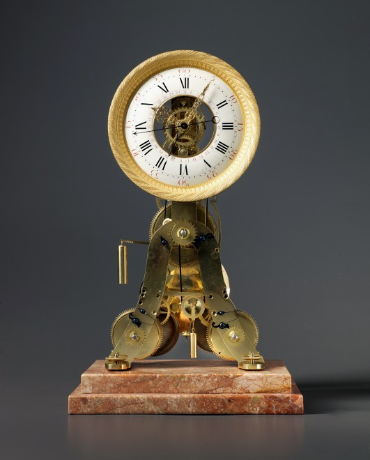 A Louis XVI skeletonised table regulator of two weeks duration