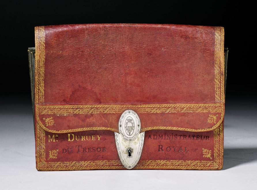 A Louis XVI  portefeuille  in the style of Pierre-Joseph Bisiaux originally belonging to Joseph Duruey