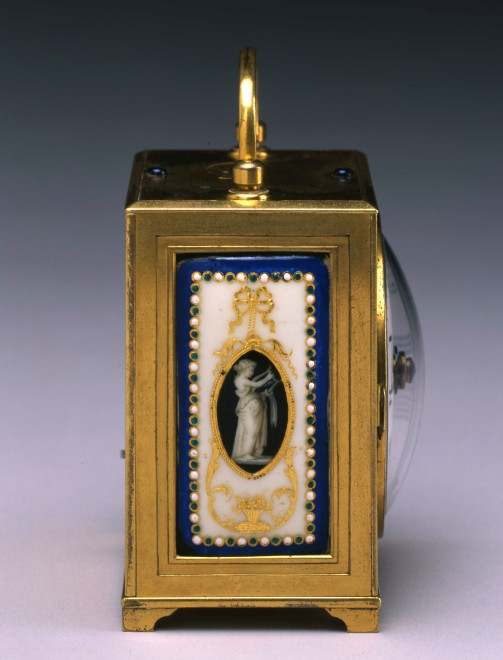 A Louis XVI miniature travelling clock by Antide Janvier