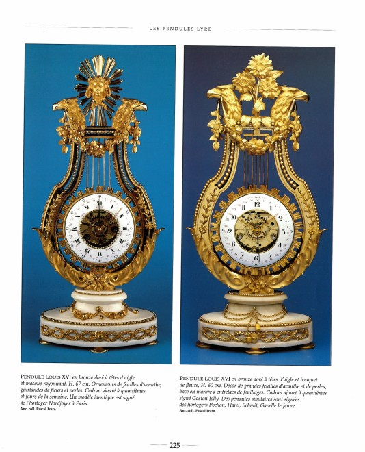 A Louis XVI skeletonised lyre clock by Gavelle Le Jeune