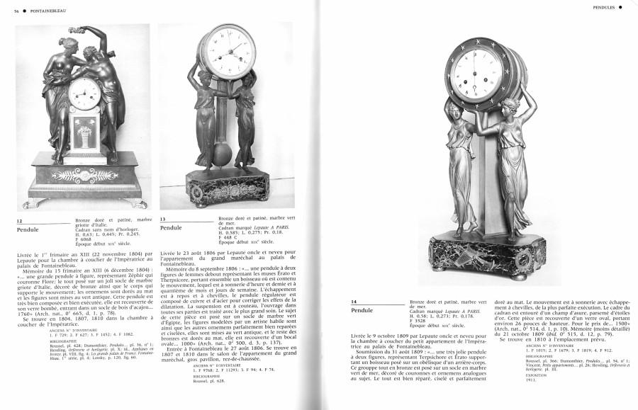 An Empire gilt bronze figural clock by Lepaute