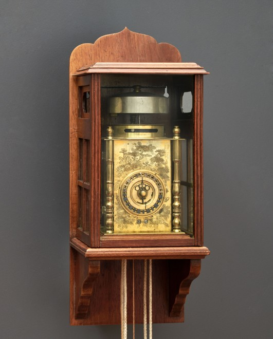 A Japanese hour striking weight-driven Yagura-dokei lantern bracket clock
