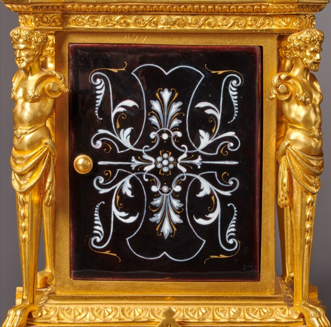 A Napoleon III musical mantel clock with grande and petite sonnerie of eight day duration by Louis Fernier